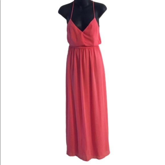 Lulu's Dresses & Skirts - Lulu's Pink Maxi Backless Dress